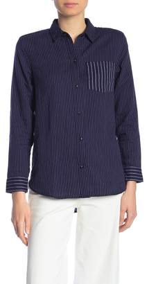 Madewell Striped Button Front Hi-Lo Shirt