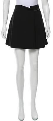 Barbara Bui Wool Mini Skirt Black Wool Mini Skirt