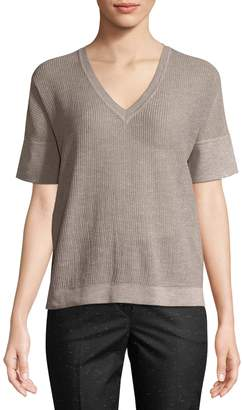 Piazza Sempione Women's Knit Cotton-Blend Top