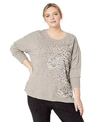 b51bcff0af3d7 Democracy Women s Plus Size Animal Print Sweatshirt