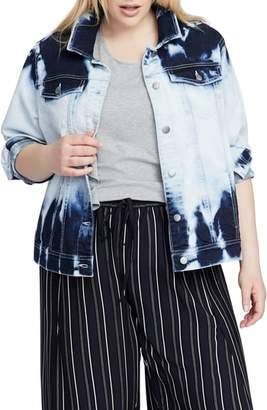 Rachel Roy Acid Wash Denim Jacket