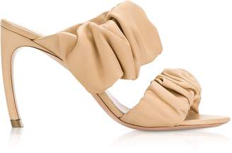 Nicholas Kirkwood 90mm Tan Nappa Courtney Mules
