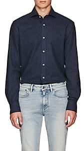 Ralph Lauren Purple Label Men's Cotton Flannel Shirt - Navy
