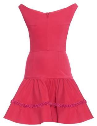 Emilio De La Morena Off-the-shoulder ruffled mini dress