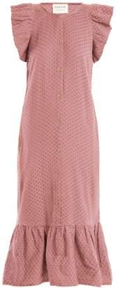 CECILIE COPENHAGEN Jehro scarf-jacquard cotton dress