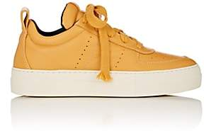 Helmut Lang WOMEN'S PADDED LEATHER SNEAKERS-YELLOW SIZE 9