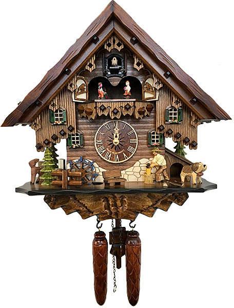 Musical Quartz Chalet Wood Chopper Clock