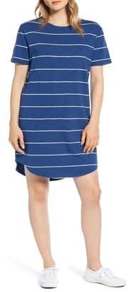 Lou & Grey Stripe Cozy Jersey T-Shirt Dress