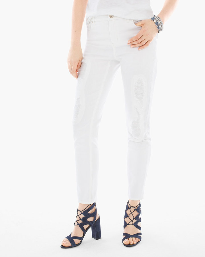 Chico'sDestructed Girlfriend Ankle Jeans