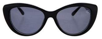 Judith Leiber Cat-Eye Tinted Sunglasses