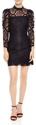 Sandro Coeur Lace Mini Dress