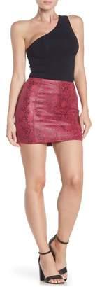 Honey Punch Faux Leather Snake Print Skirt
