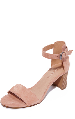 Madewell Lainy Ankle Strap City Heels $158 thestylecure.com