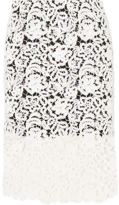 b971a24ed6 Chloé Crocheted Cotton-blend Lace Skirt - White