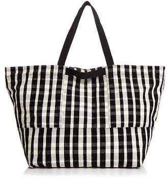 Baggu Plaid Large Canvas Tote Travel Bag