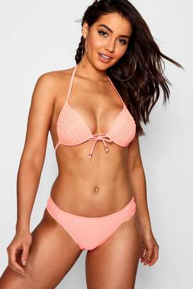 boohoo Crete Push Up Plunge Moulded Triangle Bikini