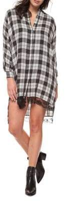 Dex Chequered Lace Shirtdress