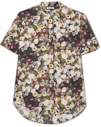 ADAM by Adam Lippes Floral-print Cotton-poplin Shirt - Black