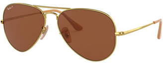 Ray-Ban Men's Evolve Polarized Metal Aviator Sunglasses