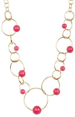 Trina Turk Stone Circle Chain Necklace