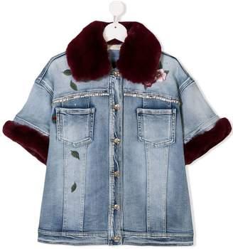 MonnaLisa TEEN embellished denim jacket