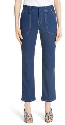 Chloé Contrast Circle Stitch Jeans