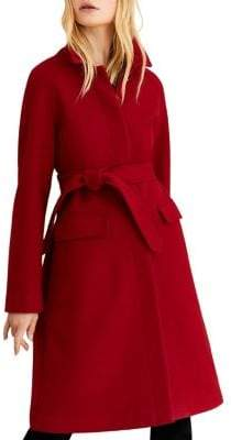Brooks Brothers Red Fleece Out Winy Wool-Blend Coat