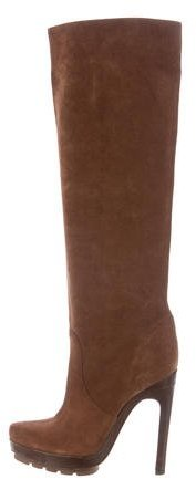 Michael Kors Suede Platform Knee-High Boots