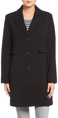 Kenneth Cole New York Water Resistant Ponte Coat (Petite)
