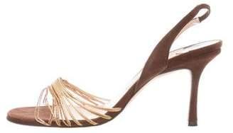 Jimmy Choo Suede Slingback Sandals