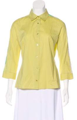 Emilio Pucci Long Sleeve Button-Up Top