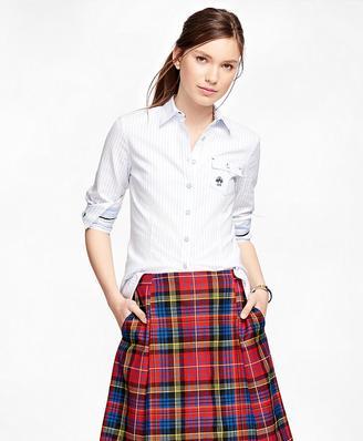 Supima® Cotton Oxford Stripe Shirt $75 thestylecure.com
