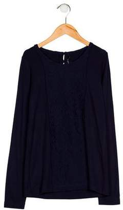 Lili Gaufrette Girls' Embroidered Knit Top