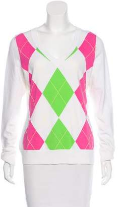 Lilly Pulitzer Argyle Knit Sweater