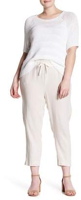 Susina Yarn Dye Linen Crop Pants (Plus Size)