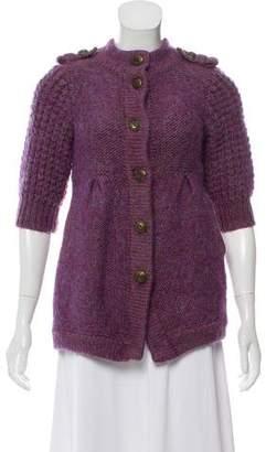 Tibi Knit Three-Quarter Sleeve Sweater
