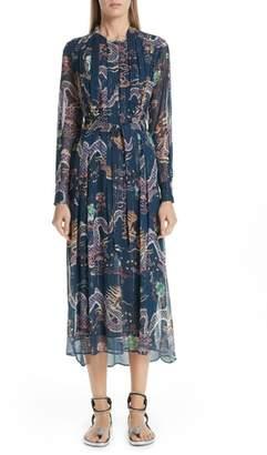 Isabel Marant Dalika Dragon Print Silk Blend Dress