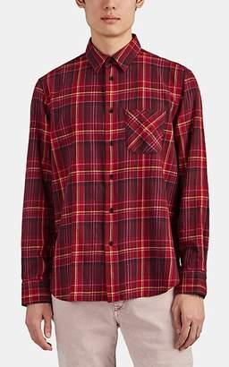 Rag & Bone Men's Checked Cotton Flannel Fit 3 Shirt - Wine