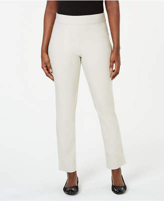 Karen Scott Petite Flat-Front Pull-On Pants