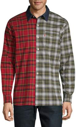 Levi's Classic-Fit Plaid Colourblock Shirt
