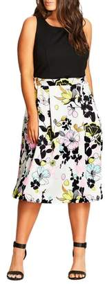 City Chic Art Darling Fit & Flare Dress