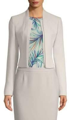 BOSS Jasika Textured Crepe Cropped Jacket