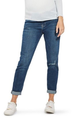 Women's Topshop Lucas Rip Maternity Boyfriend Jeans $85 thestylecure.com