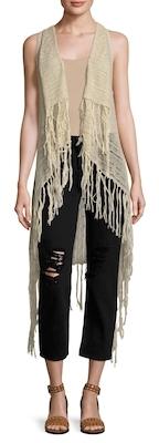 Janis Fringe Trimmed Vest $165 thestylecure.com