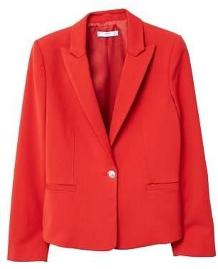 MANGO Peak lapel suit blazer