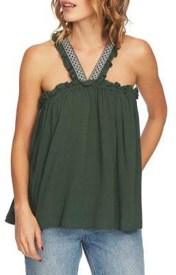1 STATE 1.STATE Embroidered Halterneck Blouse