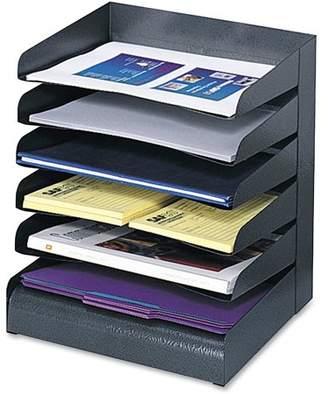Safco, SAF3128BL, Slanted Shelves Steel Desk Tray Sorter, 1 Each, Black