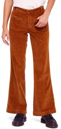 Free People Flare Leg Corduroy Pants