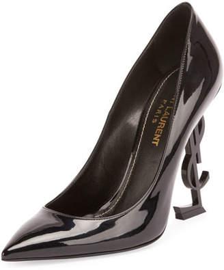 Saint Laurent Patent 110mm YSL-Heel Pump $995 thestylecure.com