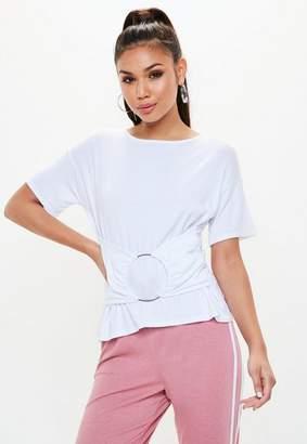 Missguided Petite White Plain T Shirt